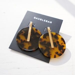 Baublebar Dara Resin Drop Earrings in Tortoise